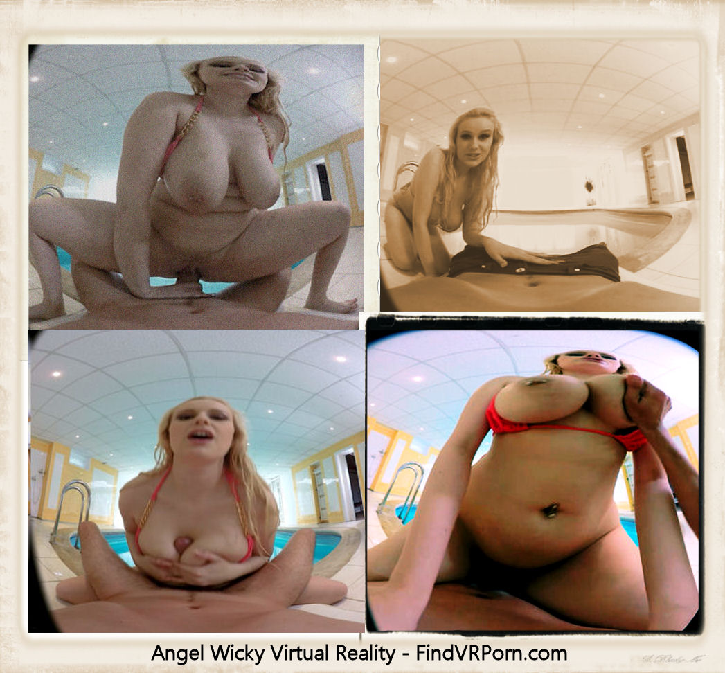 Collage of Angel Wicky virtual reality sex