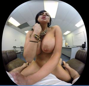 Audrey Bitoni big tits cowgirl fuck