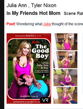 Julia Ann is your friend's hot mom in VR
