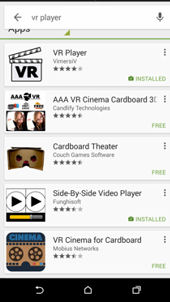 VR players on Google Play