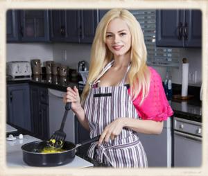 Elsa Jean cooking