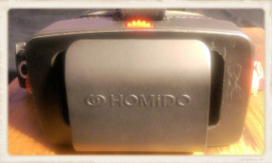 Front view of Homido VR headset
