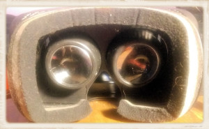 Homido headset view of lenses