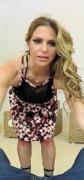 Rachel Roxxx dressed in a dress