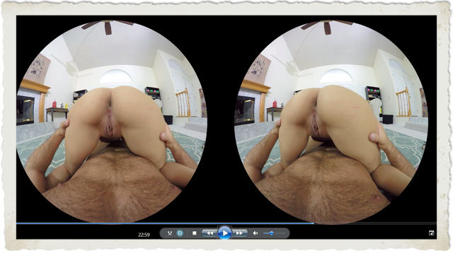 Nina double doggy in VR viewer