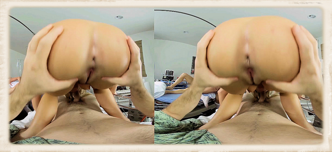 Blair Williams VR close-up of pussy and asshole