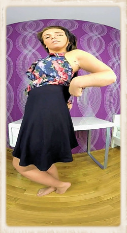 Chrissy Curve dressed in skirt