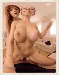 Marta and Irina in VR porn movie Happy Birthday