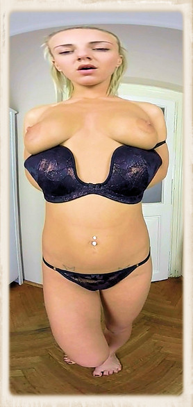 Natalie Cherie down bra and panties