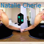 Natalie Cherie doggy style pose
