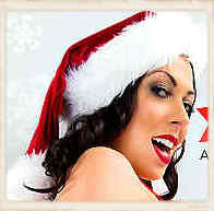Rachel Starr little picture with Santa hat