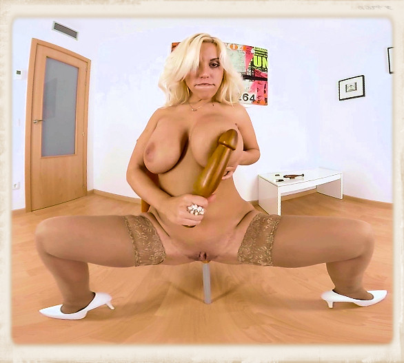 Blondie Fesser baseball bat dildo