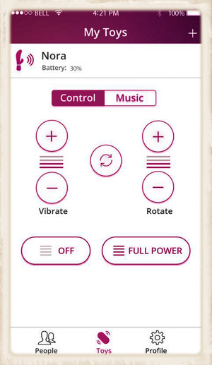Phone app to control Lovense