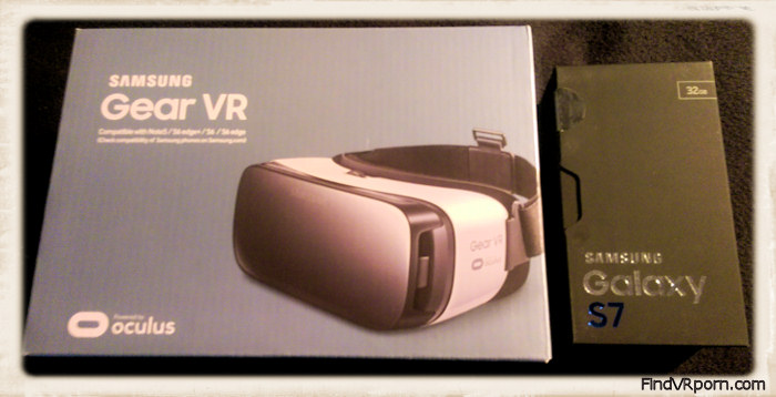 Gear VR and Samsung Galaxy S phone in their boxes