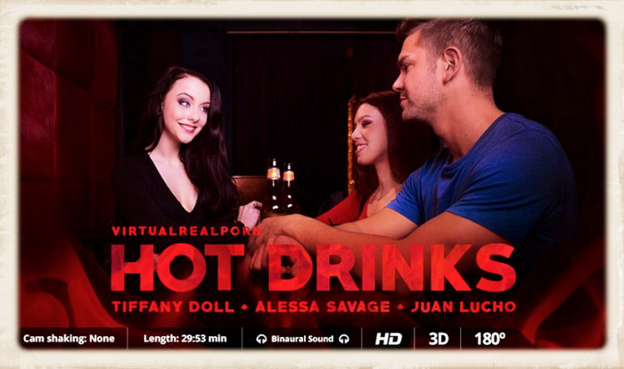 Hot Drinks movie graphic with Alessa, Tiffany and Juan Lucho
