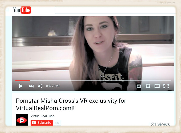 Misha Cross Youtube video screen capture