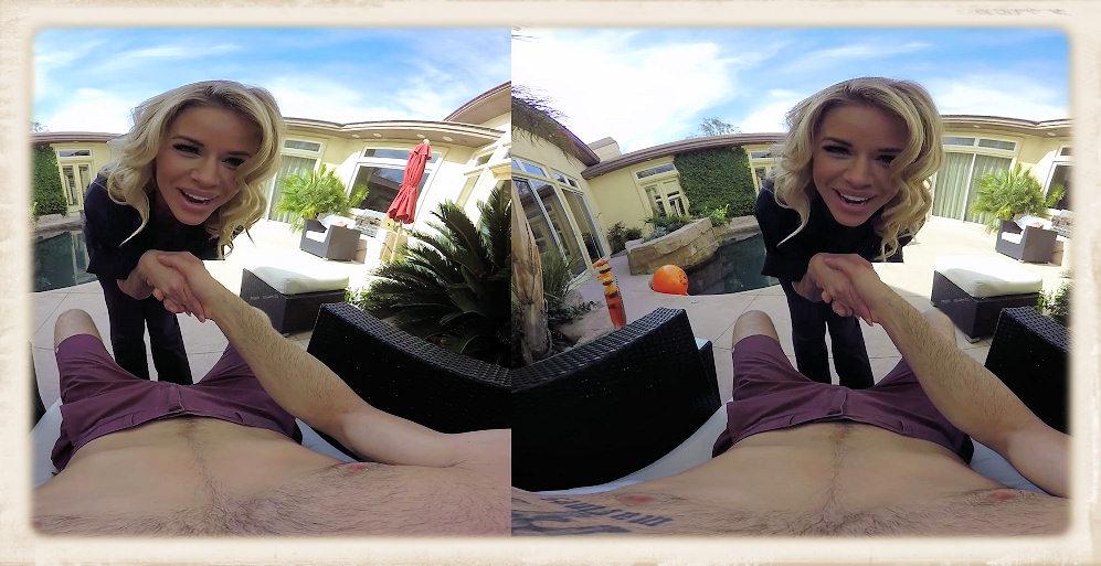 Jessa Rhodes in pool cleaning uniform