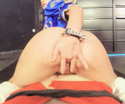 Lucy Nieto fingers herself doggy style position