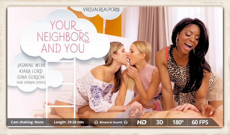 Your Neighbors and You promo graphic from Virtual Real Porn