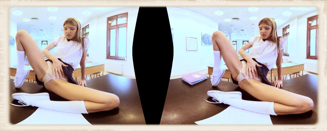 Gina Gerson legs spread panties