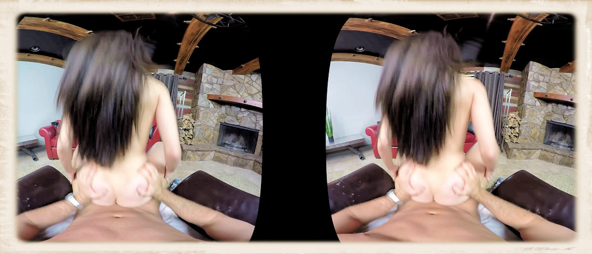 Lana Rhoades reverse cowgirl VR