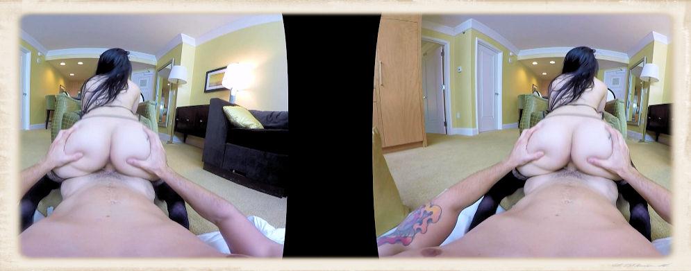 Katrina Jade reverse cowgirl VR