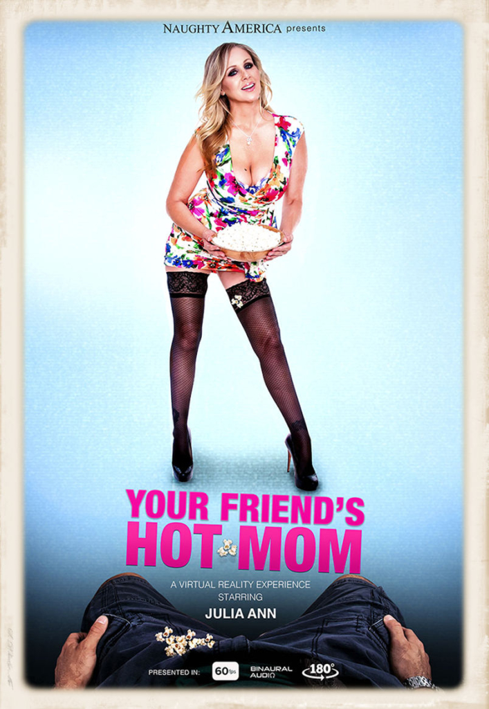 Full-sized promo graphic for Julia Ann in the July 2016 new Your Friend's Hot Mom VR porn release