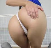 Ass thong violet star