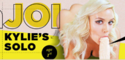 Full sized promo graphic from Kylie's jerk off extravaganza