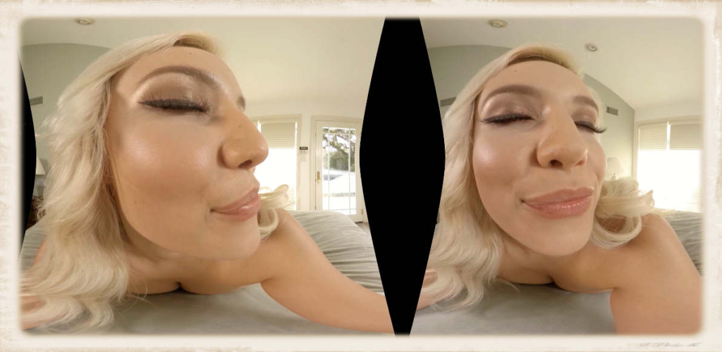 Kylie Page face close up in VR