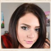 Megan Sage's face close up