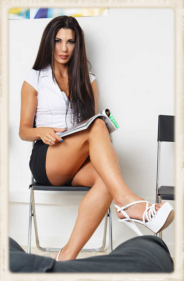Alexa Tomas waiting in doctor's office