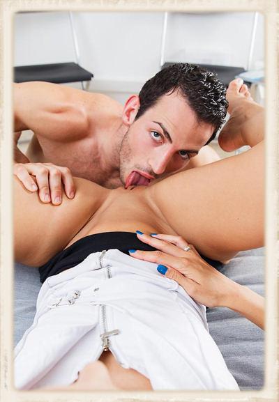 Joel Tomas eats Alexa Tomas pussy