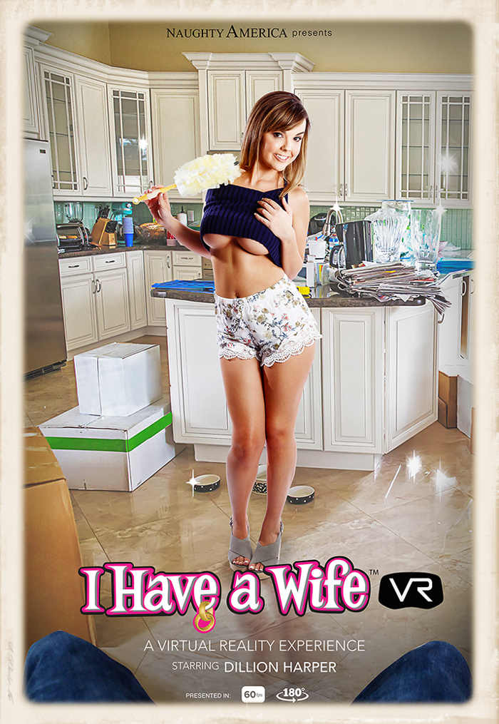 Dillion Harper stars in I Have A Wife for Naughty America VR: October 21, 2016 release date.