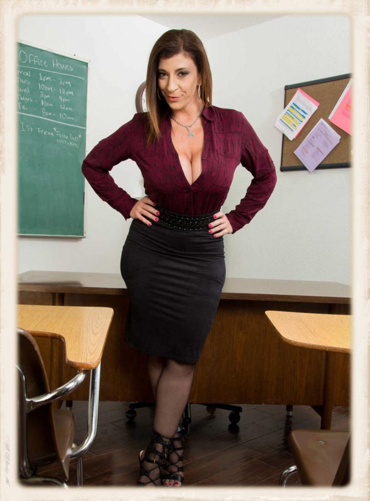 Sara Jay dressed in skirt