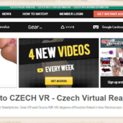 Screenshot of the CzechVR flagship site that also contains the subsites of CzechVR Fetish and Casting