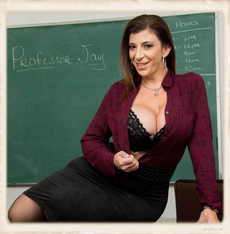 Sara Jay on desk