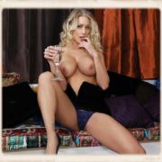 Katie Morgan legs spread in panties