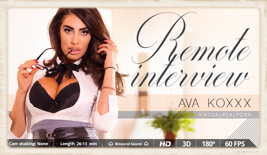 Ms. Ava Knoxxx stars in Remote Interview for Virtual Real Porn