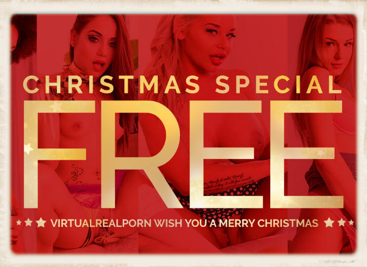 free Christmas VR from Virtual Real Porn header