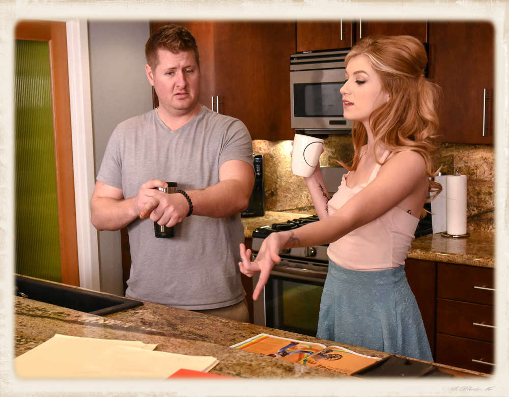 Honestly, I wasn't playing much attention to the story line, but that appears like the fella who makes cameos in these movies... I believe we may have last seen him last week in the kitchen with Julia Ann... I guess he's one of the lucky guys that spends a lot of time in kitchens with beautiful porn stars