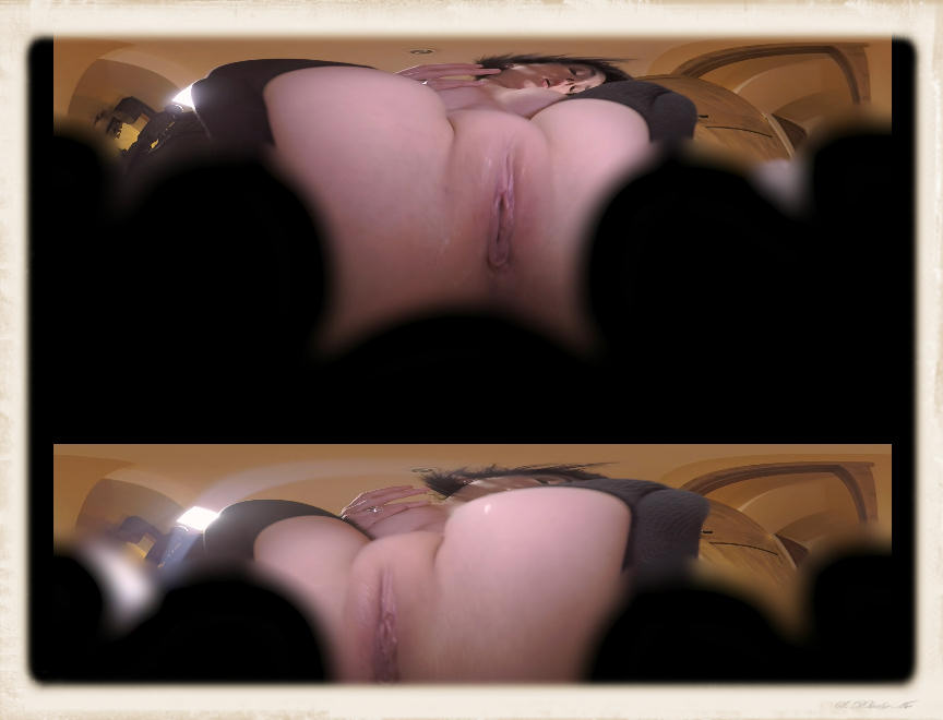 a bald pussy in a virtual porn movie