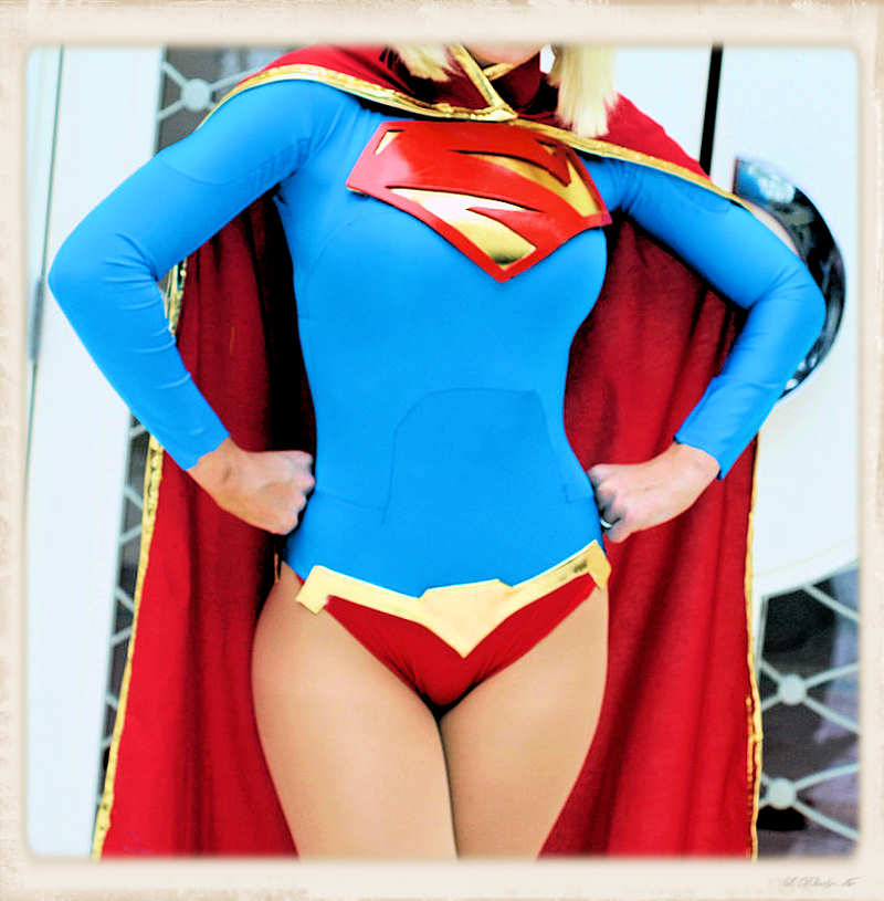 Supergirl red bikini bottom cosplay