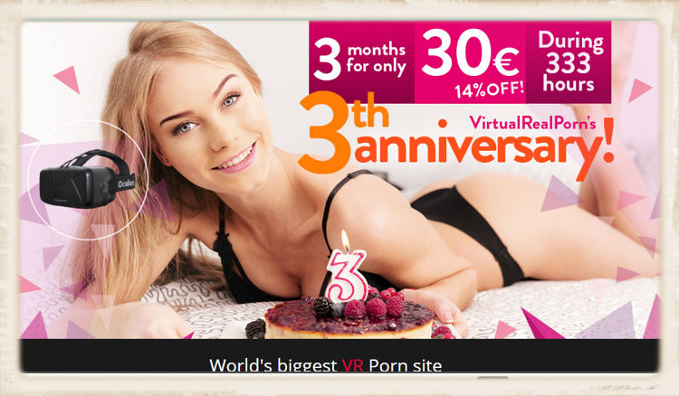 Virtual Real Porn third anniversary birthday picture
