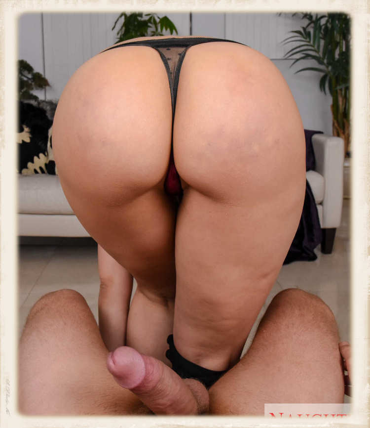 Rachel Starr bends over in thong