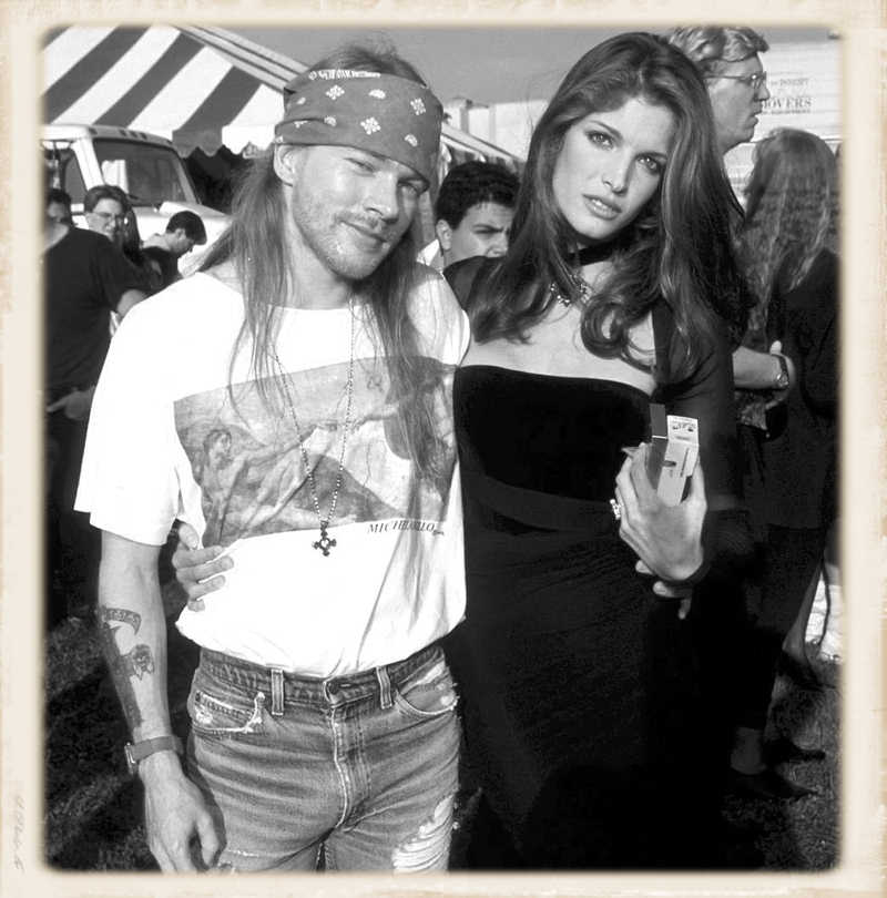 Axl and Stephanie Seymour