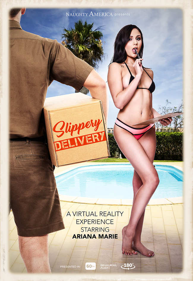 Ms. Ariana Marie stars in Slippery Delivery for Naughty America VR