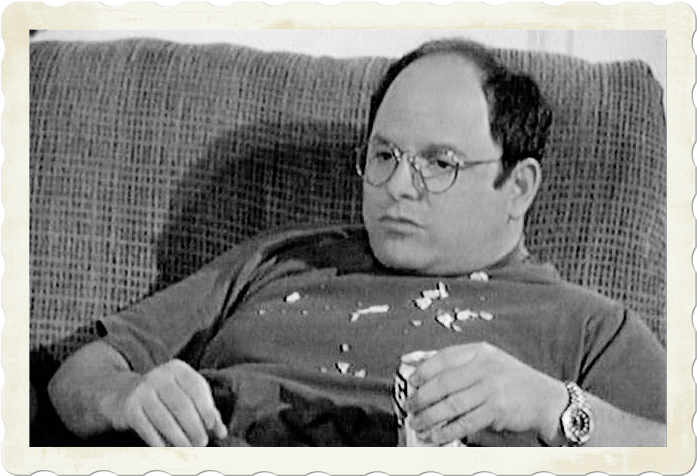 George Costanza on couch