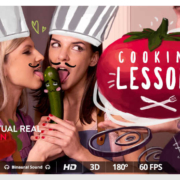 Gina and Hennesy star in VRP's latest release, Cooking Lessons.