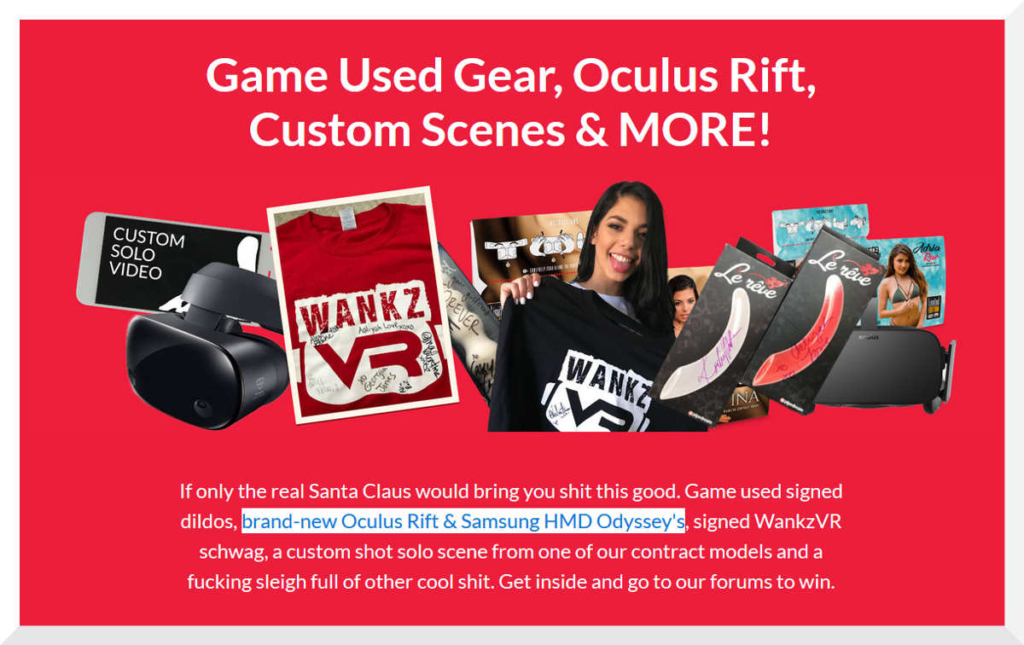 Holy fuck me, WankzVR. Game used gear! Is that what I think it means? What does this mean fellas?